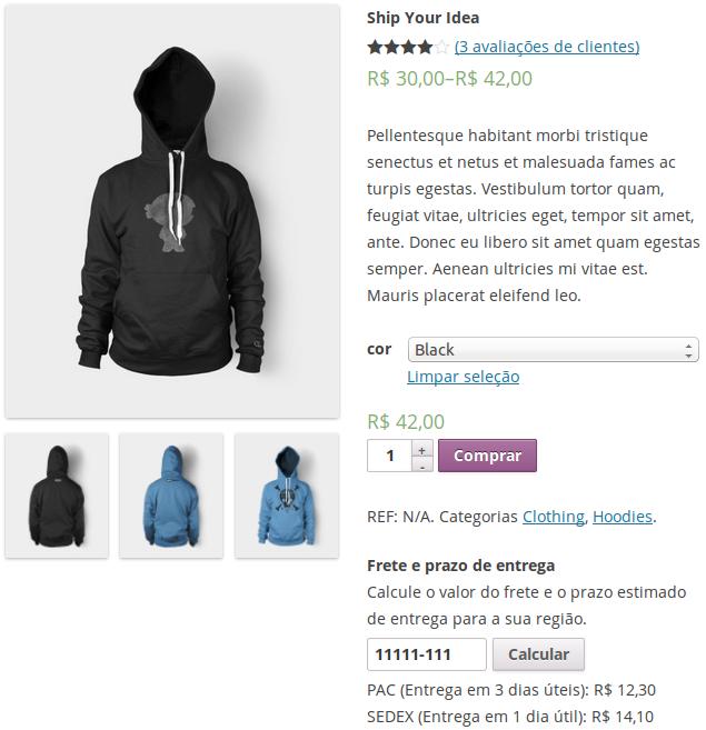 WooCommerce – Exibir simulador de frete dos correios na página deproduto